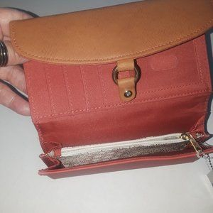 New Women's Trifold Credit Card Wallet, Faux Lethr